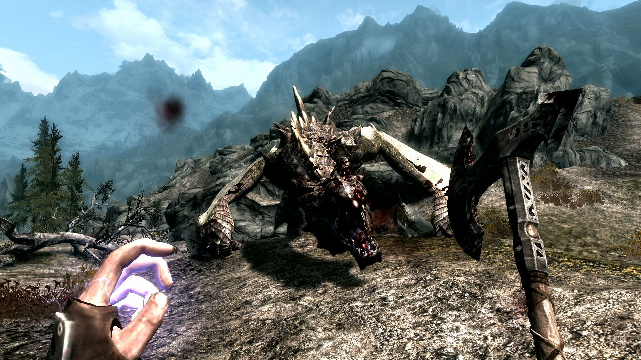 1050888053001 1280247300001 skyrim fighting a dragon 5 hours in The Best PS3 Games (So Far)